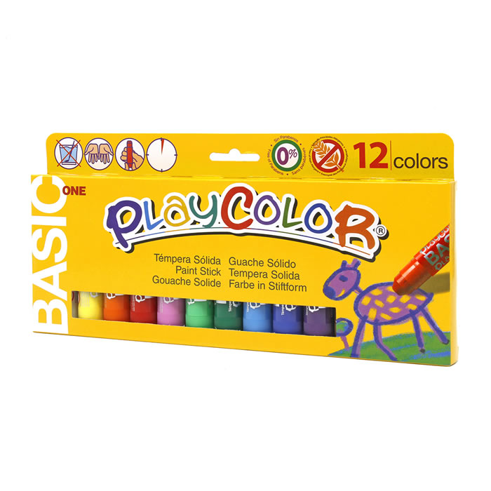 Tempera playcolor solida playcolor 12 barritas colores surtidos (10731)