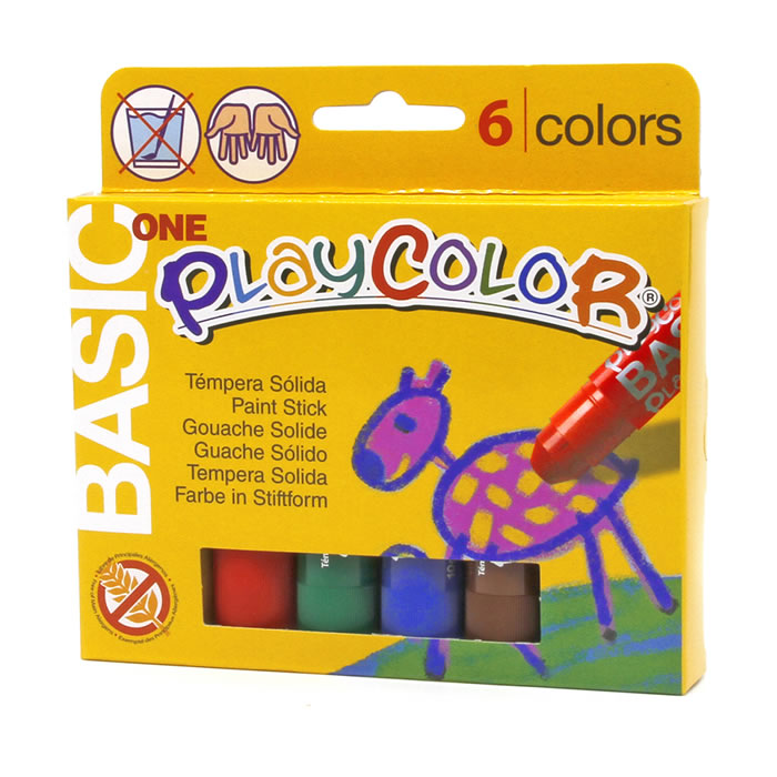 Tempera playcolor solida playcolor 6 barritas colores surtidos (10711)