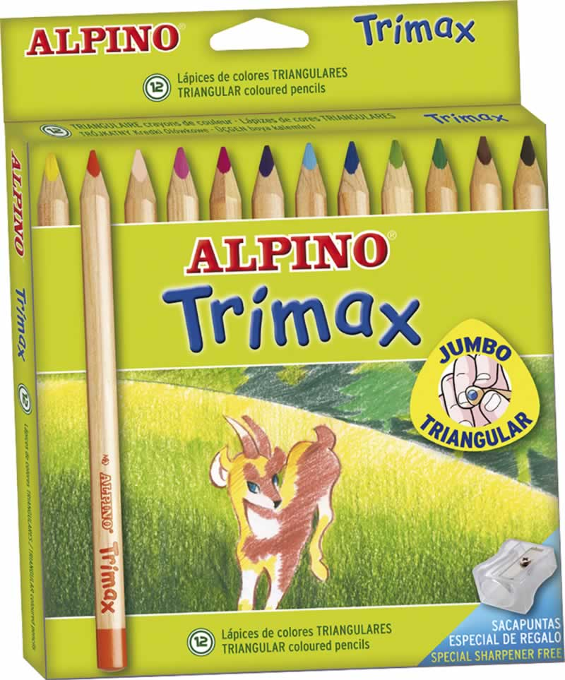Lapices triangulares alpino 12 uds. (0102160)