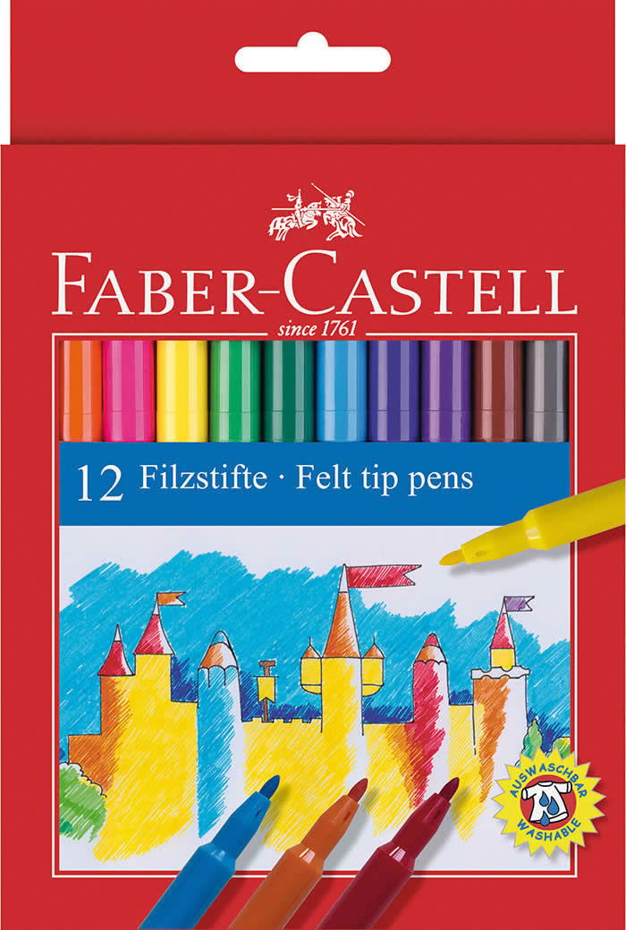 Rotuladores 12 uds. Faber Castell (0102185)