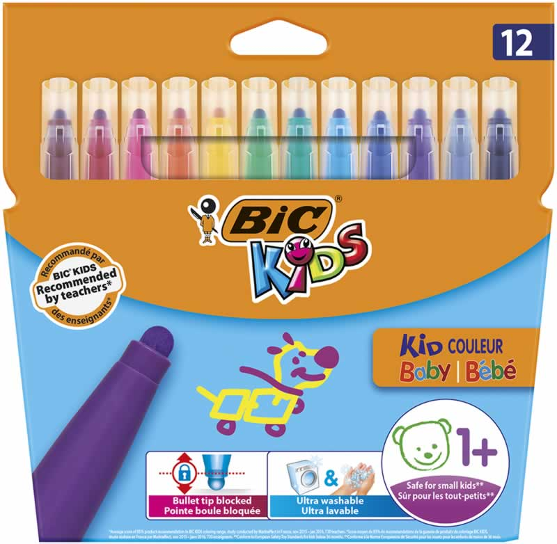 Rotuladores Bic kids couleur baby 12 uds.