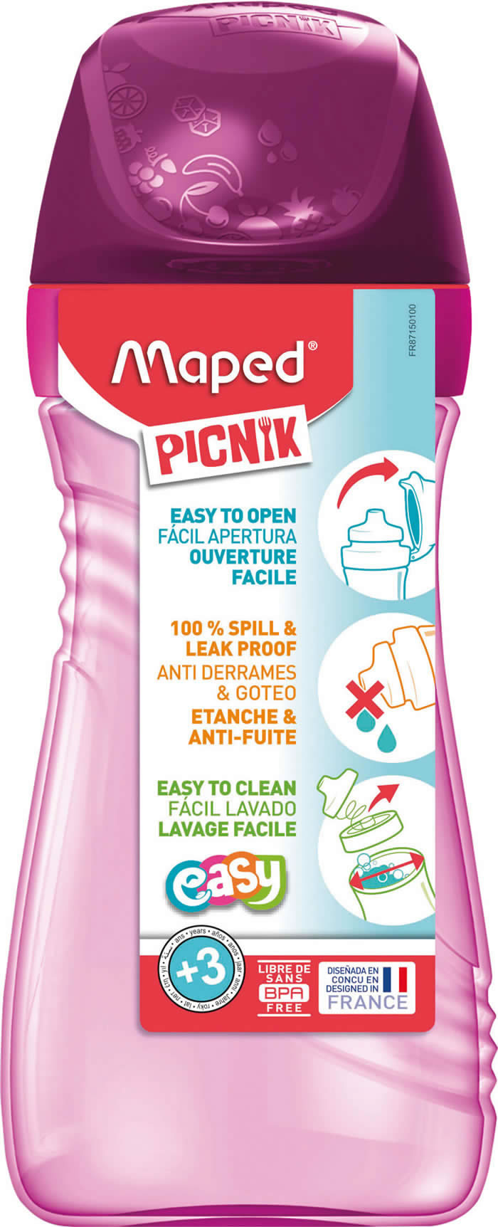 BOTELLA MAPED PICNIK 430 ML. ROSA (871501)