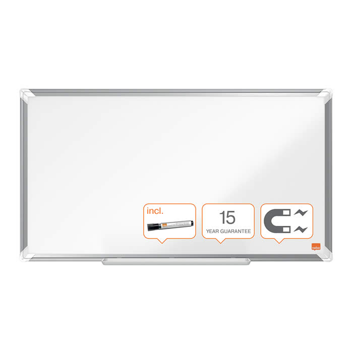 "PIZARRA NOBO PANORAMICA NANO CLEAN 32"" (720X410 MM.) BLANCO (1905296)"