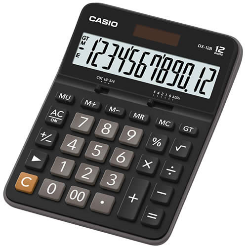 CALCULADORA CASIO 12 DIGITOS DX-12B (DX-12B)