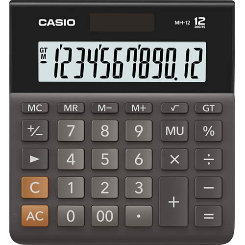 CALCULADORA CASIO 12 DIGITOS MH-12 (MH-12)