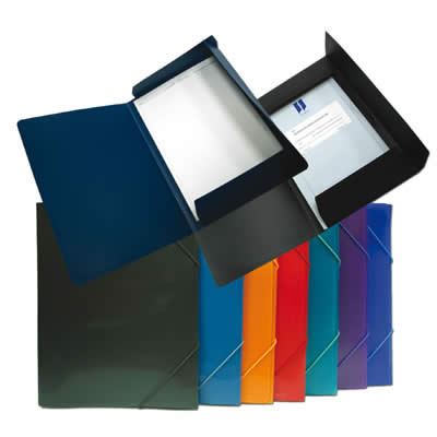 Carpeta OFFICE BOX con goma supa Maxi+. 260 x 350 mm. Colores surtidos (51815)
