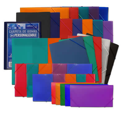 Carpeta OFFICE BOX con goma supra recibos. Colores surtidos (50815)