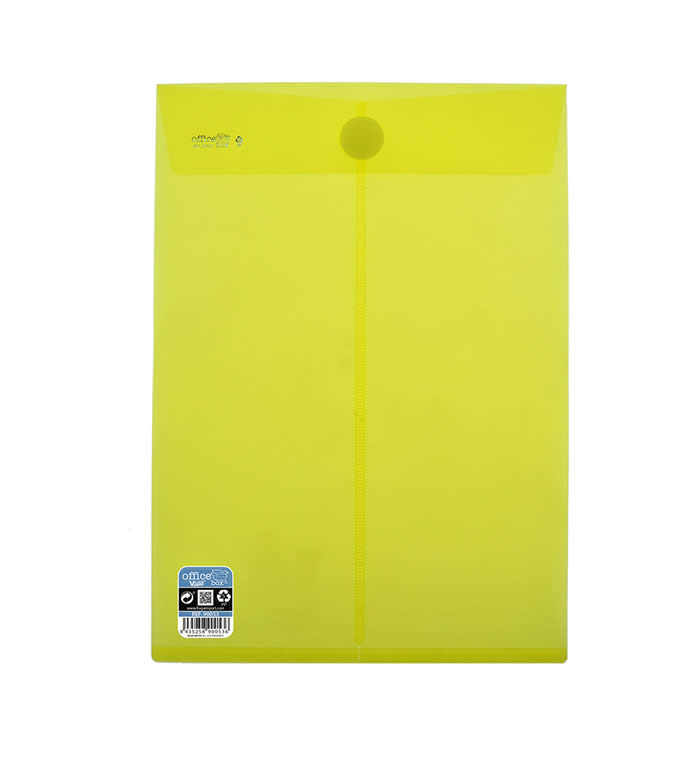BOLSA O. BOX CIERRE SUPERIOR V-LOCK 230X325 MM. AMARILLO (90053)