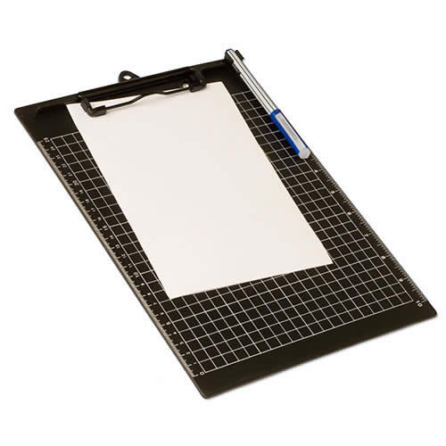 Clipboard OFFICE BOX vertical con pinza cuadriculado (9259)