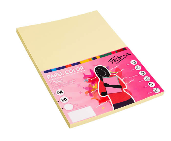 Papel Paperline A4 80 grs. 500 hojas amarillo (15641)