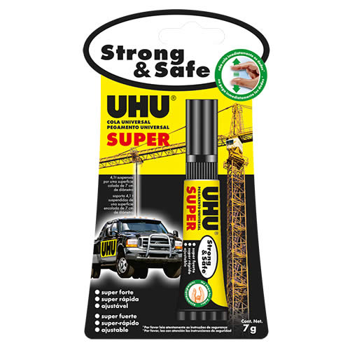 PEGAMENTO UHU SUPER STRONG & SAFE 7 GRS. (34997)