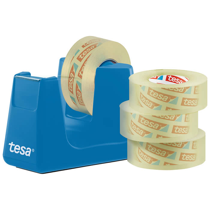 PORTARROLLO TESA EASY CUT SMART AZUL + 4 ROLLOS 33 M.X19 MM.  (53908-00000-00)