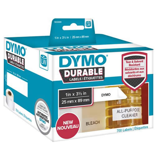 ETIQUETAS DYMO LABELWRITER DURABLE 25X89 MM. 100 UDS. (1976200)