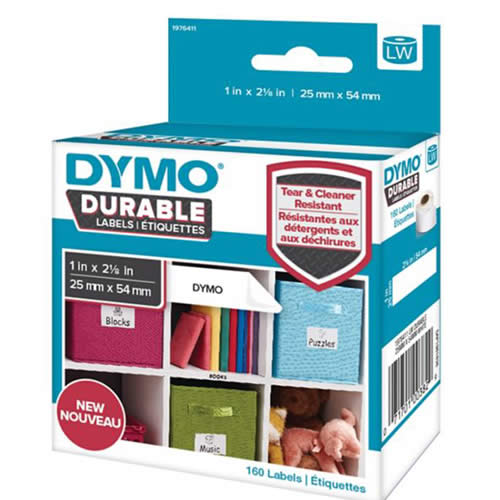ETIQUETAS DYMO LABELWRITER DURABLE 25X54 MM. 160 UDS. (1976411)