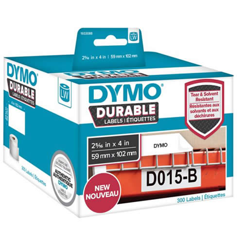 ETIQUETAS DYMO LABELWRITER DURABLE 59X102 MM. 50 UDS. (1976414)