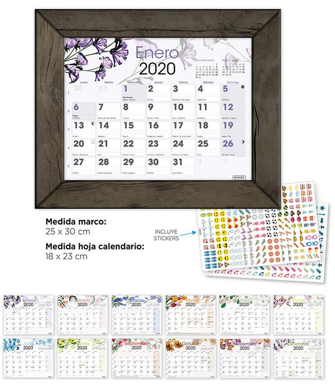 CALENDARIO MARCO SIMIL MADERA SENFORT (501100)