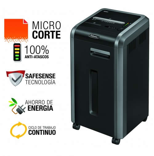 Destructora FELLOWES 225Mi microcorte de 2x12mm