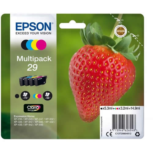 CARTUCHO EPSON HOME 29 MULTIPAK C13T29864010
