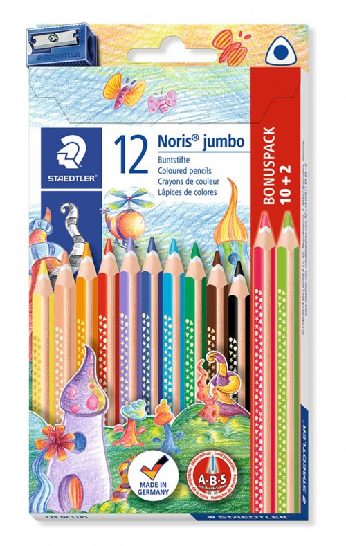 Lápiz color triangular JUMBO NORIS 128. 10 uds.