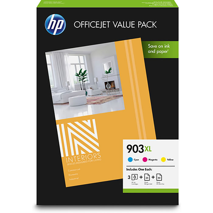 HP 903XL Officejet Value Pack Original Cian, Magenta, Amarillo | Cartuchos de tinta 1CC20AE