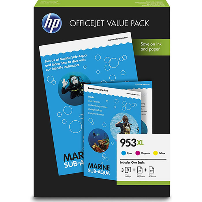 HP 953XL Officejet Value Pack Original Cian, Magenta, Amarillo | Cartuchos de tinta 1CC21AE