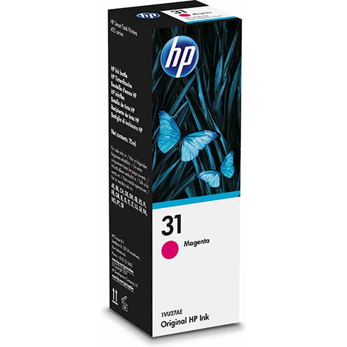 HP 31 Botella de tinta original de 70-ml Magenta 1VU27AE