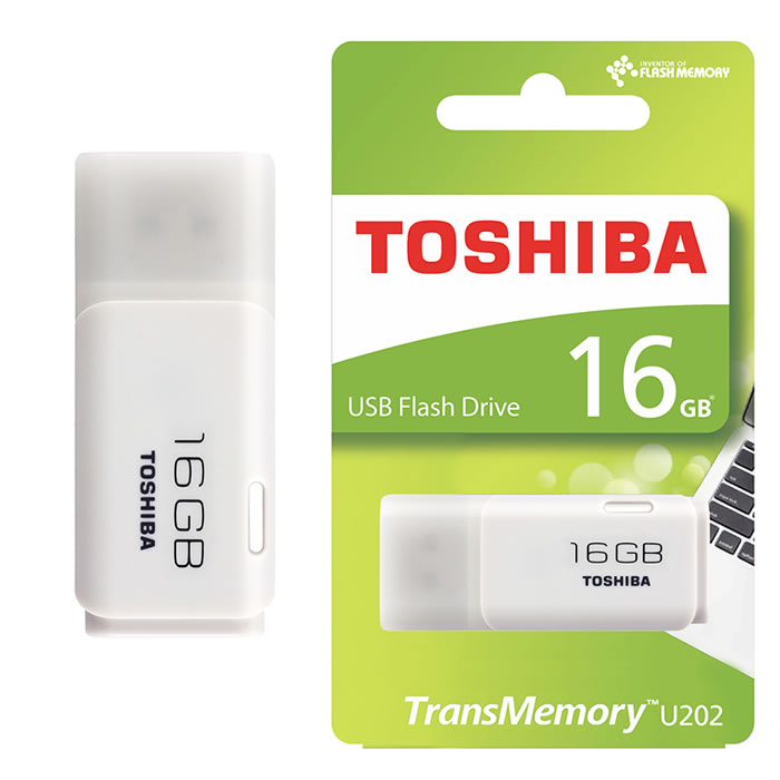 PEN DRIVE 2.0 TOSHIBA 16GB BLANCO (20140)