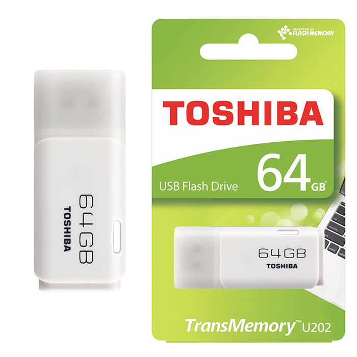 PEN DRIVE 2.0 TOSHIBA 64GB BLANCO (20142)