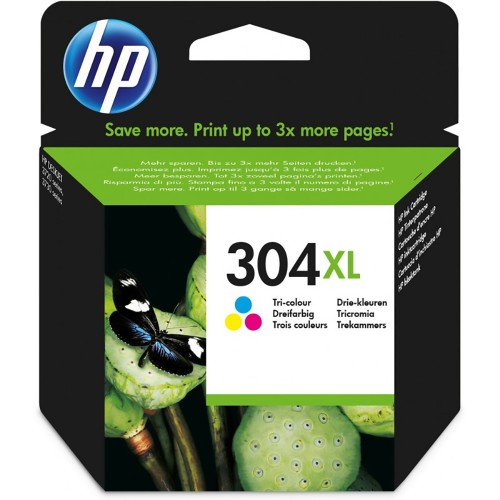 HP 304XL Original Tricolor | Cartucho de Tinta N9K07AE