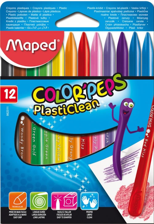 Ceras maped plasticlean 12 colores (862011)