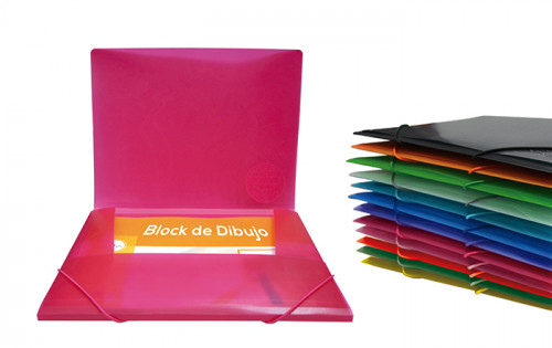 Carpeta colorline con gomas y 3 solapas