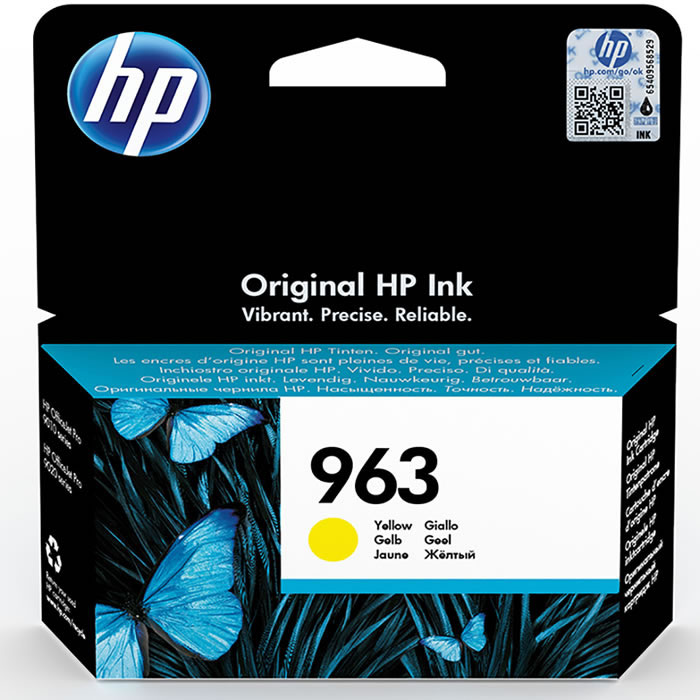 HP 963 Yellow Original Ink Cartridge Amarillo 1 pieza | Cartucho de tinta 3JA25AE
