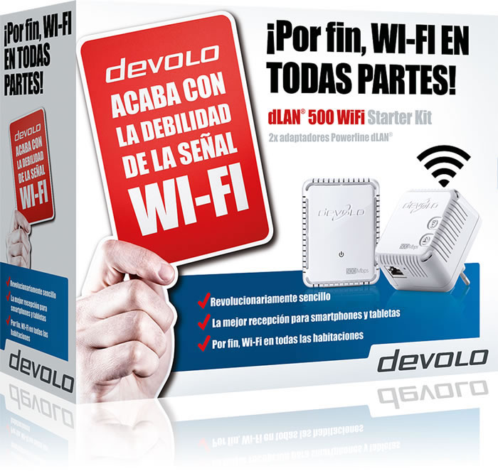 DLAN 500 WIFI STARTER KIT PLC POWERLINE DEVOLO (9276)