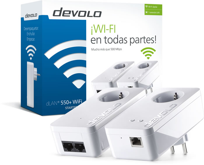 DLAN 550 WIFI STARTER KIT PLC DEVOLO (9637)