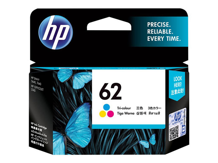 Cartucho de tinta original HP 62 Tri-color