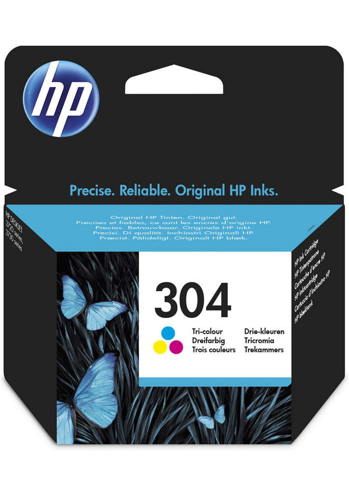 Cartucho de tinta original HP 304 Tri-color